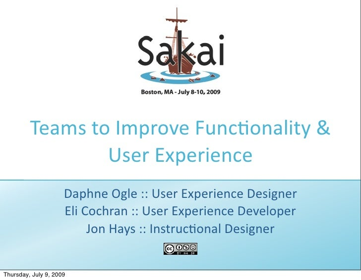 Teams to Improve Func1onality &                   User Experience                      Daphne Ogle :: User Experience Desi...