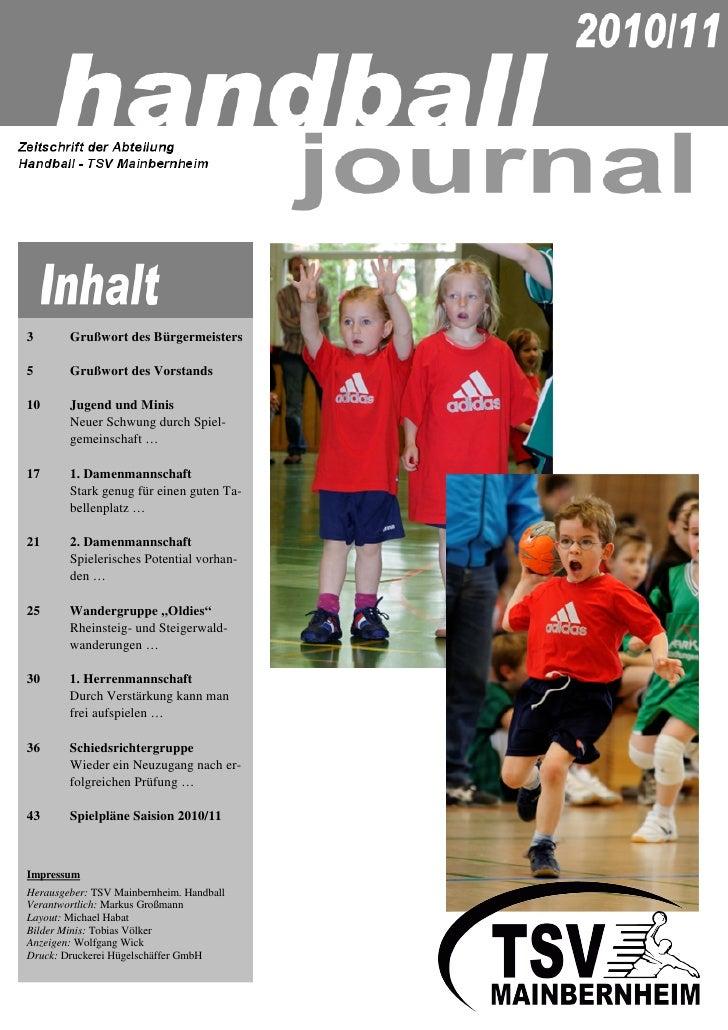 Tsv mainbernheim handball_journal2010