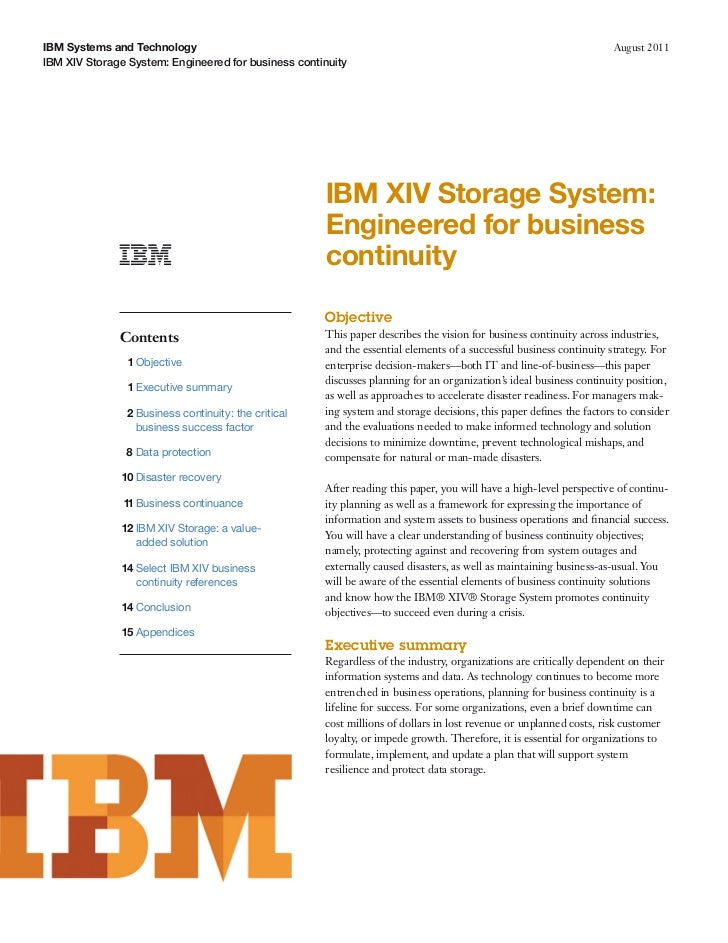 IBM Systems and Technology                                                                                           Augus...