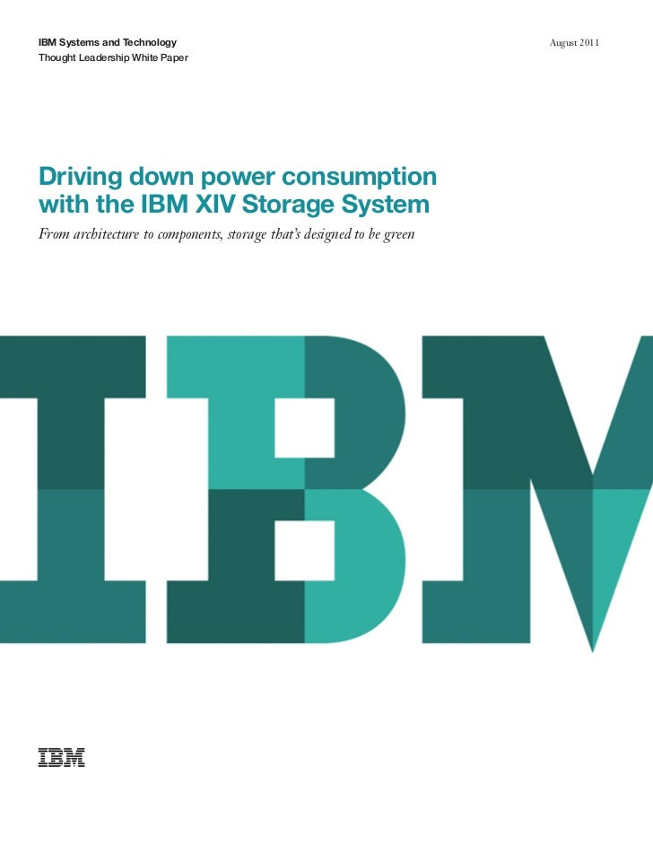 IBM XIV Storage Power Consumption White Paper