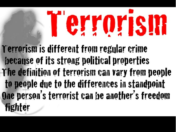 Essay about terrorism