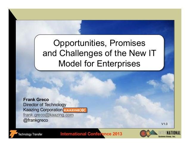 International Conference 2013 1 V1.0 Frank Greco Director of Technology Kaazing Corporation frank.greco@kaazing.com @frank...