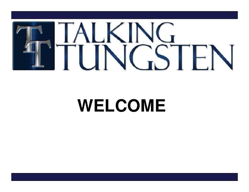 Talking Tungsten Final Presentation Site