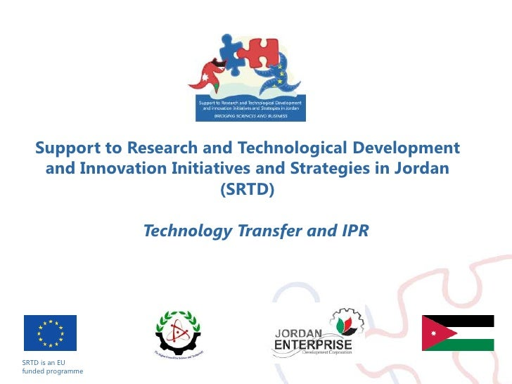 SRTD is an EU <br />funded programme<br />Support to Research and Technological Development and Innovation Initiatives and...