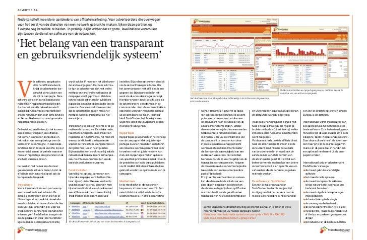 Affiliate marketing, TradeTracker systeem
