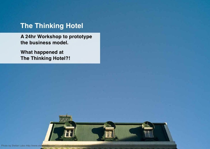 The Thinking Hotel 24h workshop