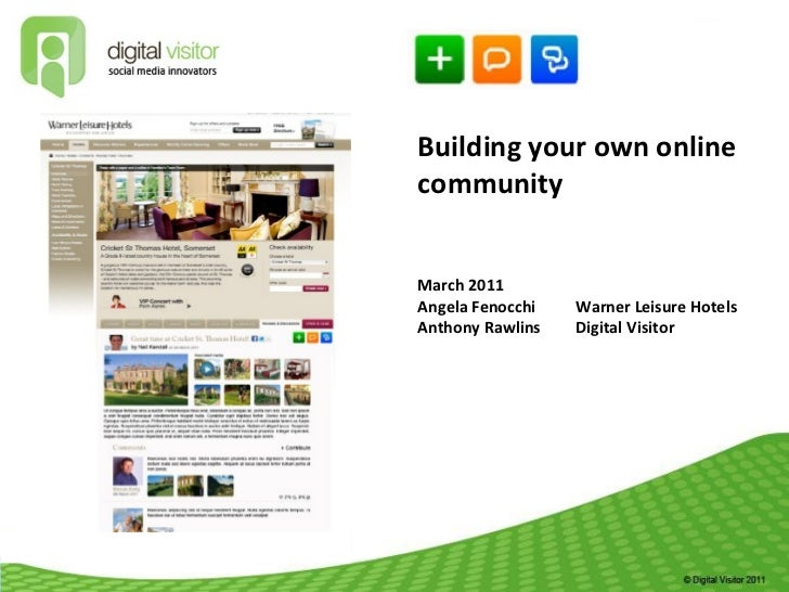 Building and growing your own online community