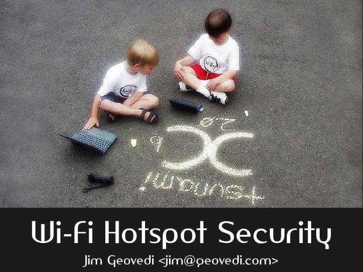 Wireless Hotspot Security
