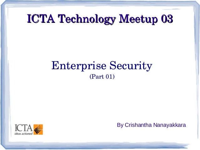 ICTA Technology Meetup 03 - SOA Security