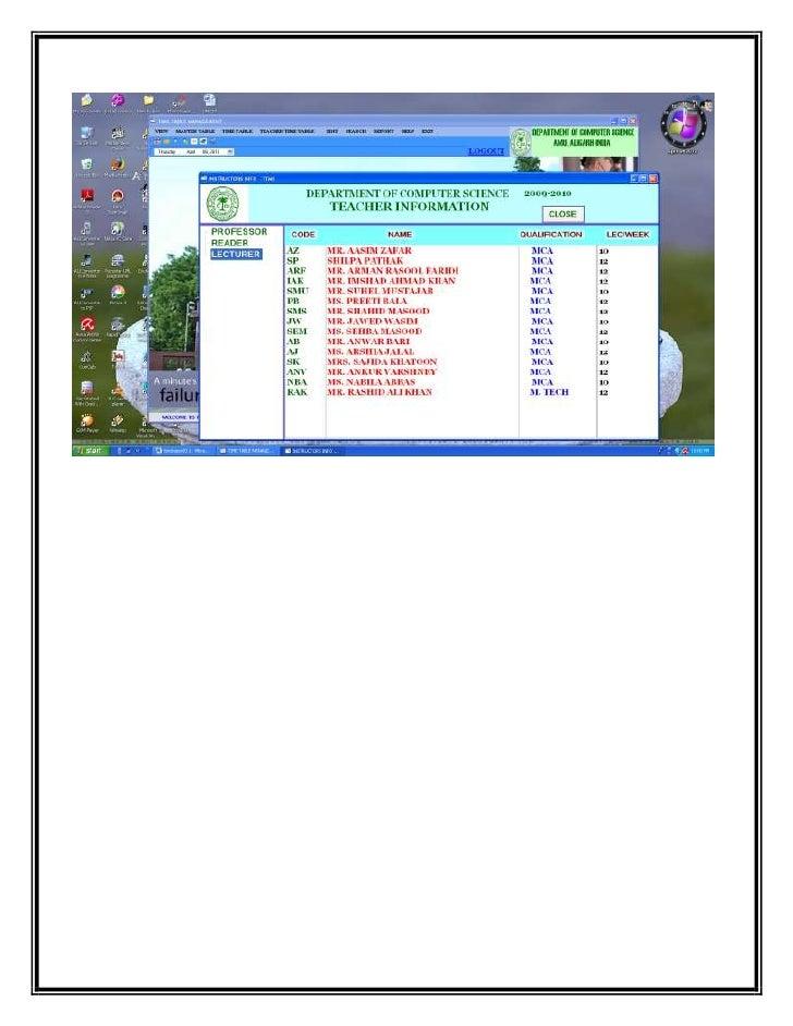time table management system Teacher time table management system project in php free download school management system php description school management system for best administration of school management.