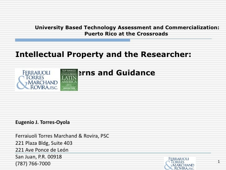 Intellectual Property Considerations for Researchers
