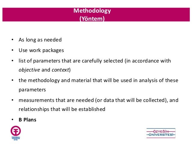 How to write the methodology