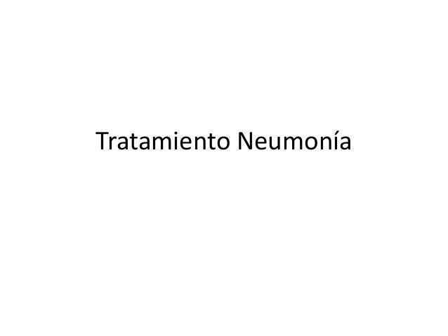Tratamiento de Neumonía