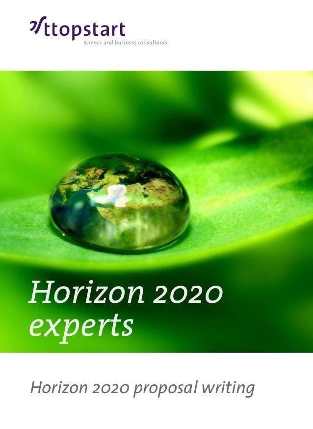 Horizon 2020 brochure ttopstart -  the horizon 2020 experts