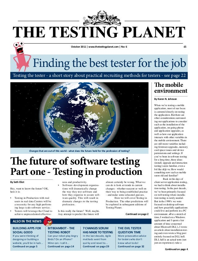 The Testing Planet Issue 6