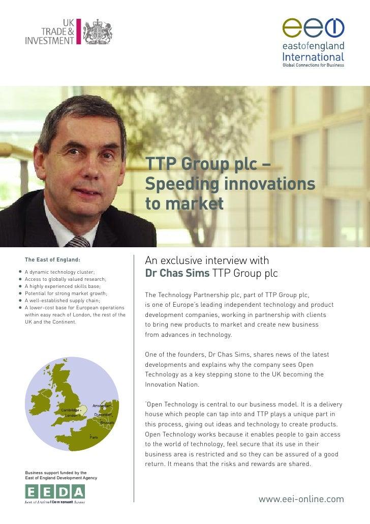 TTP Group plc –                                                    Speeding innovations                                   ...