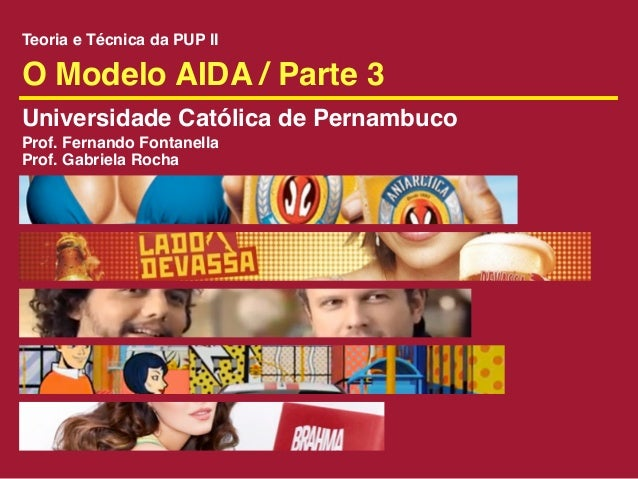 Teoria e Técnica da PUP IIO Modelo AIDA / Parte 3Universidade Católica de PernambucoProf. Fernando FontanellaProf. Gabriel...