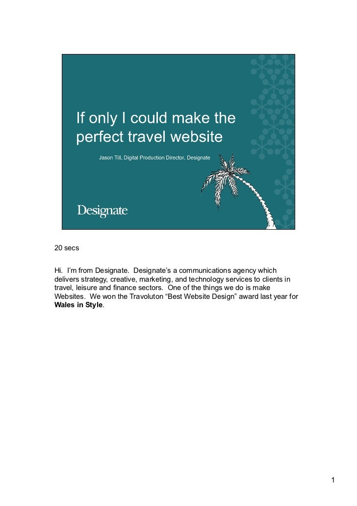 If only I could create the perfect travel website (2008)