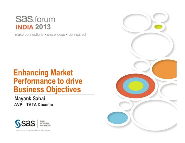 TATA Teleservices - SAS Forum India: Enhancing Marketing Performance to drive Business Objectives