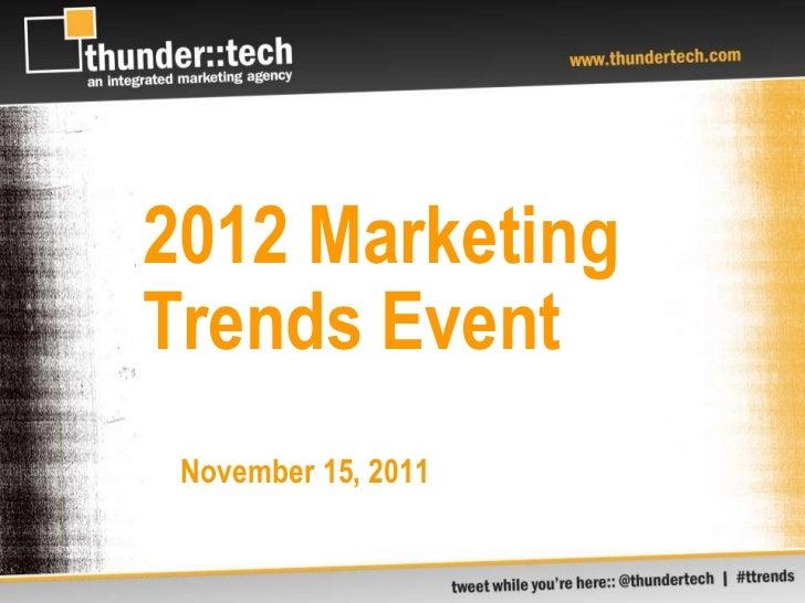 thunder::tech - Marketing Trends event