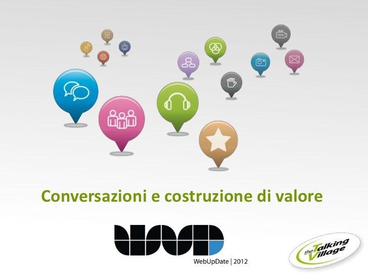 Conversazioni e costruzione di valore