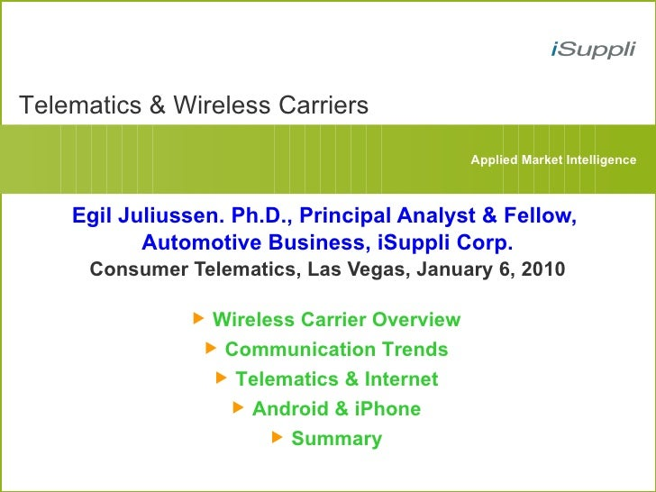 Telematics & Wireless Carriers