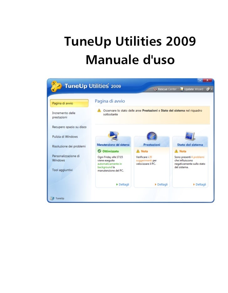 TuneUp Utilities 2009    Manuale d'uso