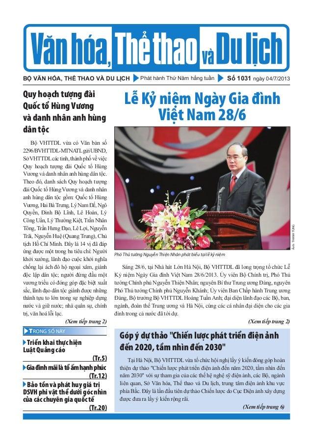 Toàn cảnh văn hóa, thể thao, du lịch - Số 1031 (vanhien.vn)