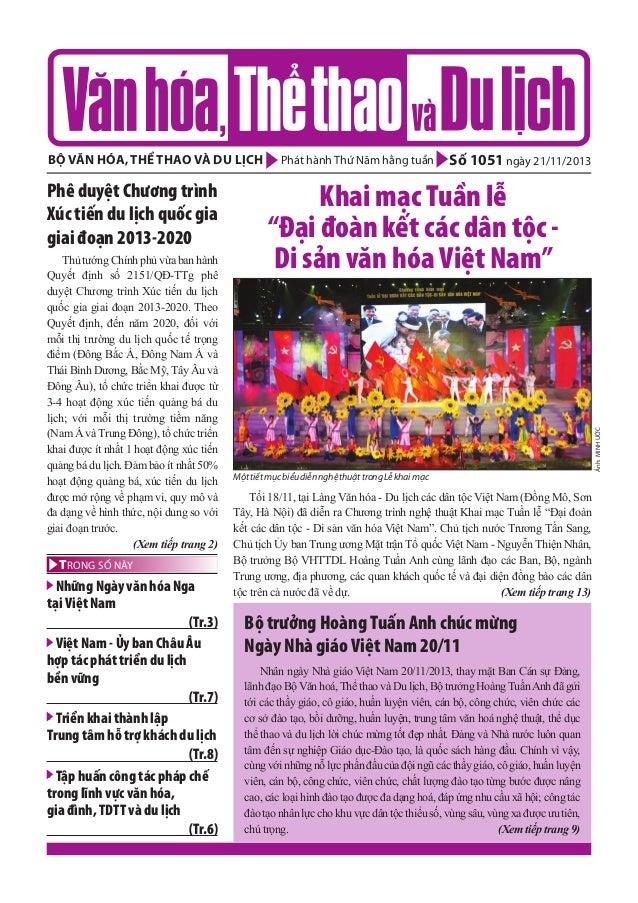 Toàn cảnh văn hóa, thể thao và du lịch – Số 10510 –vanhien.vn
