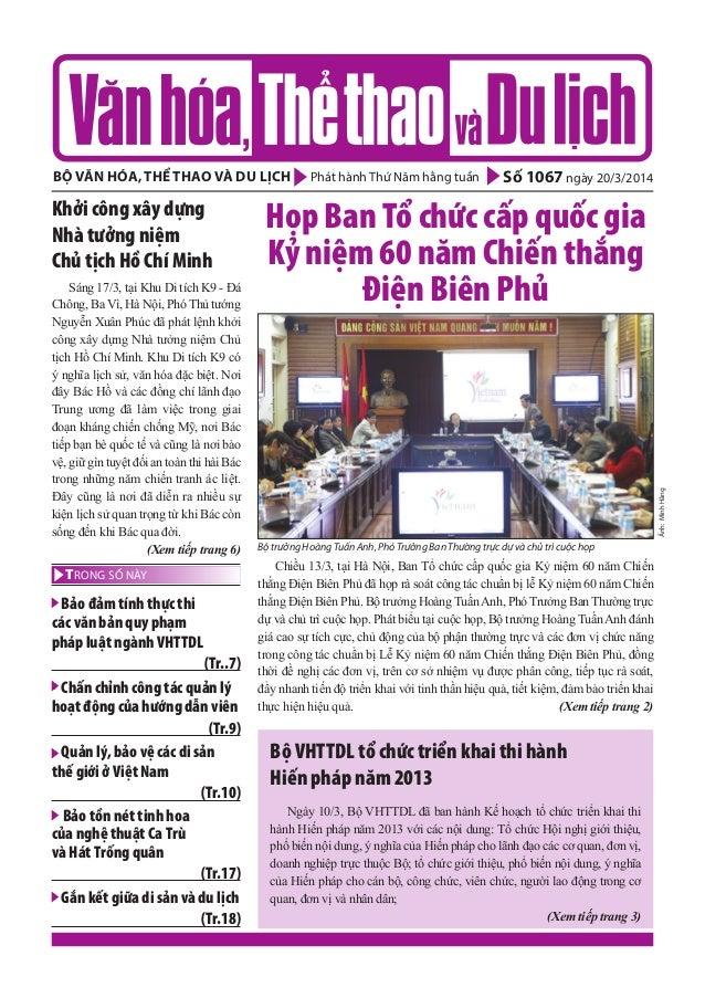 Toàn cảnh văn hóa, thể thao và du lịch – Số 1067 - vanhien.vn