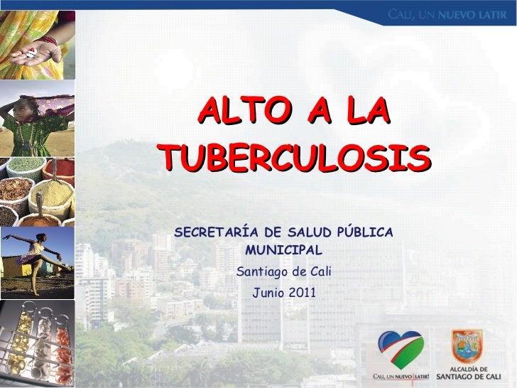 ALTO A LA TUBERCULOSIS SECRETARÍA DE SALUD PÚBLICA MUNICIPAL Santiago de Cali Junio 2011