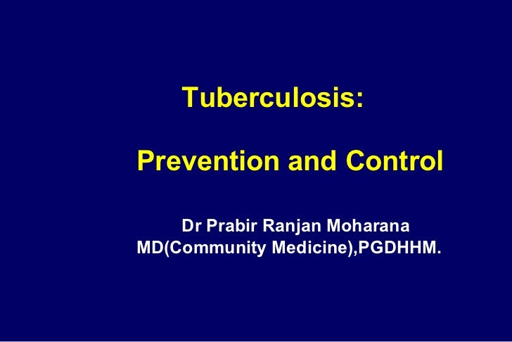 Tuberculosis: Prevention & Control