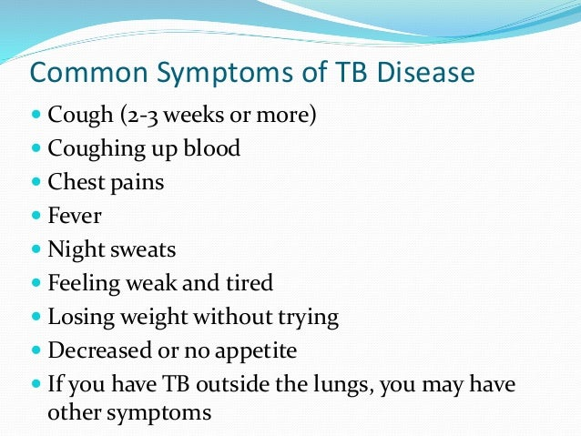 tb signs and symptoms pdf