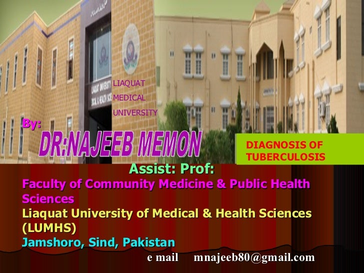 LIAQUAT              MEDICAL              UNIVERSITYBy:                                   DIAGNOSIS OF                    ...