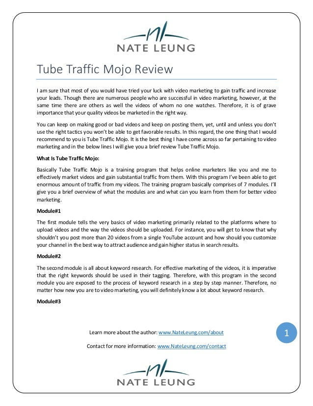 Tube Traffic Mojo Review I am sure that most of you would have tried your luck with video marketing to gain traffic and in...