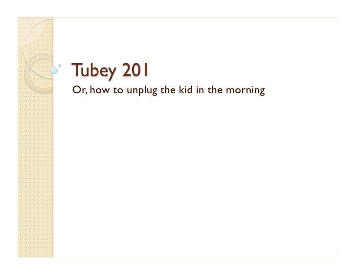 Or, how to unplug the kid in the morning