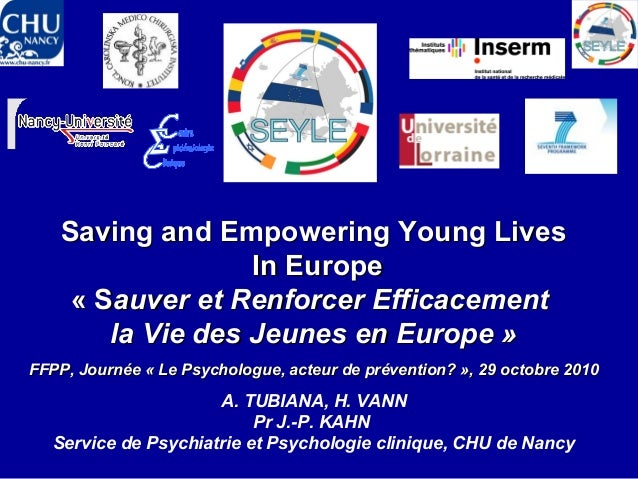 Saving and Empowering Young LivesSaving and Empowering Young Lives In EuropeIn Europe « S« Sauver et Renforcer Efficacemen...