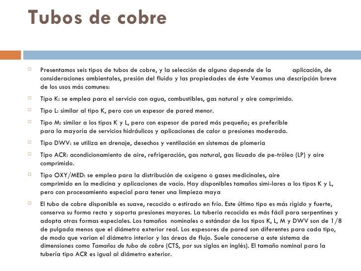 Tubos y tuberias - Tuberia de cobre precios ...