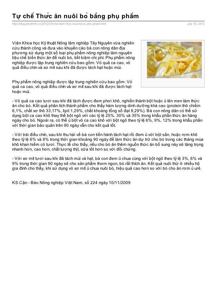 Tự chế Thức ăn nuôi bò bằng phụ phẩmhttp://blog.phuthinh.co/2012/07/che-bien-thuc-nuoi-bo-tu-phu-pham.html         ...