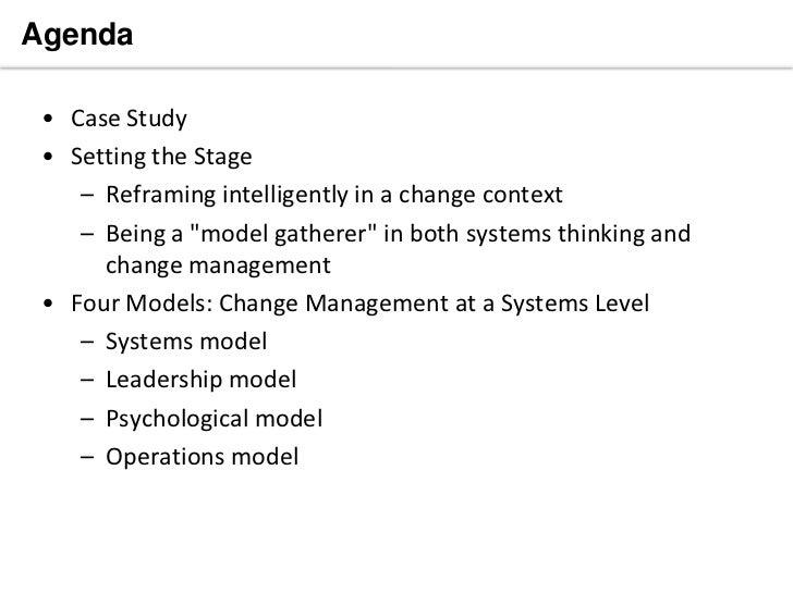 Dissertation management change