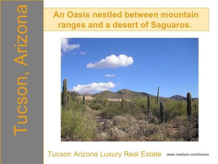 An Oasis nestled between mountain ranges and a desert of Saguaros.  Tucson, Arizona Tucson Arizona Luxury Real Estate www....