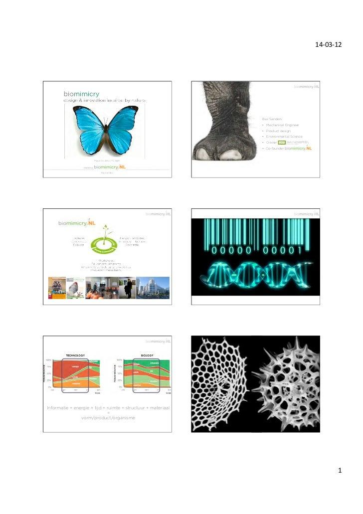 TU Delft_Biomimicry_Bas Sanders_14 March 2012