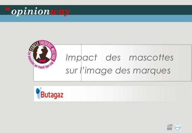 """Impact des mascottes sur l'image des marques  opinionway  """""""