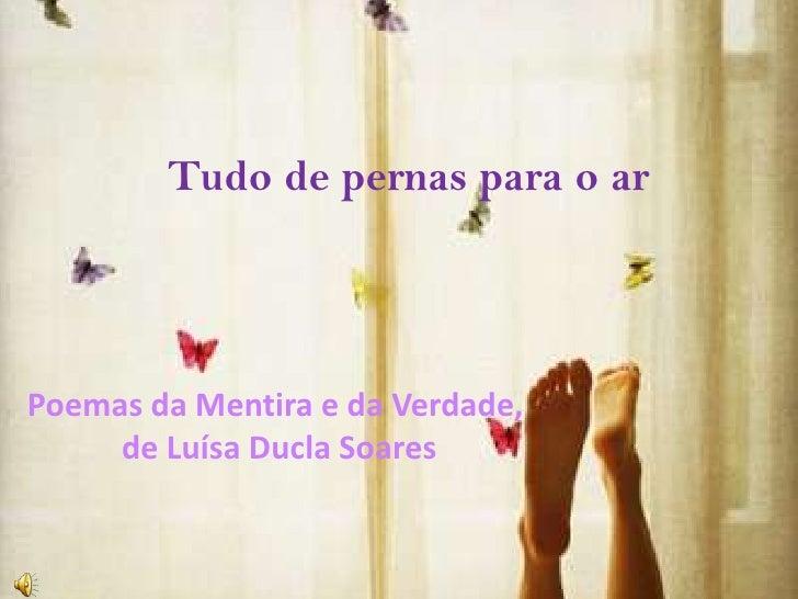 Tudo de pernas para o ar<br />Poemas da Mentira e da Verdade,de Luísa Ducla Soares<br />