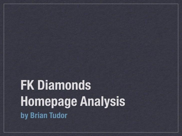FK Diamonds Home Page Analysis
