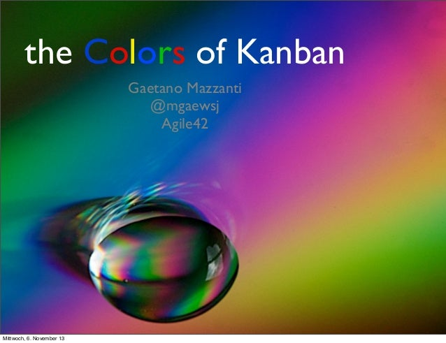 Gaetano Mazzanti: The colors of Kanban