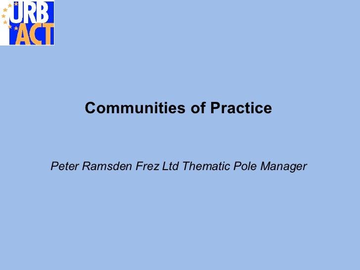 URBACT Communities of Practice
