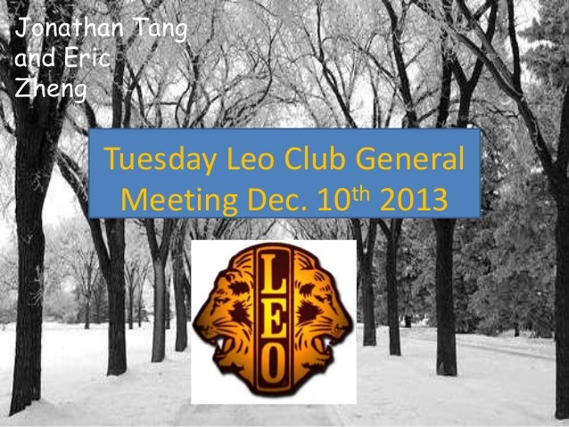 Dec 10th Meeting Power Point
