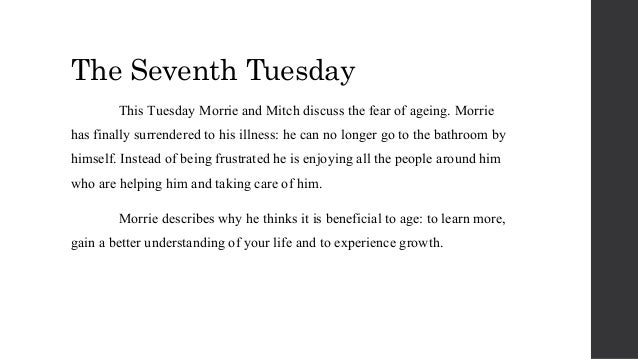 a review of the book tuesdays with morrie Tuesdays with morrie, overall, was a very meaningful book to me book review (samantha kim): tuesdays with morrie changed millions of lives the ideas presented are all real, all things we can apply in our lives, and morrie becomes our teacher.