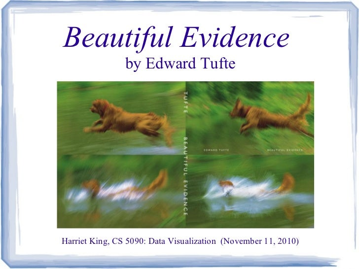 Report on Beautiful Evidence by E. Tufte